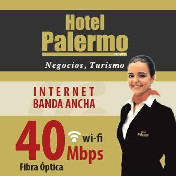 Banner Wifi Alta velocidad en Hotel Palermo Suite - 40 Mbs por fibra óptica
