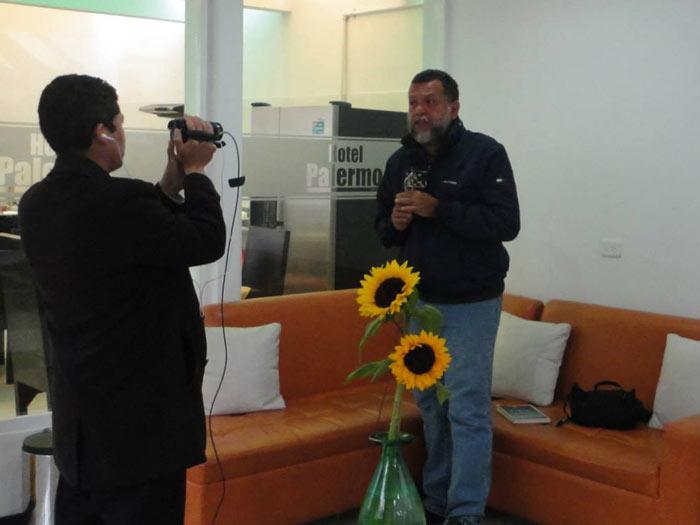 Padre Linero en Hotel Palermo