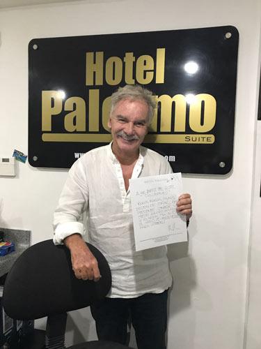 Papá Jaime en Hotel Palermo